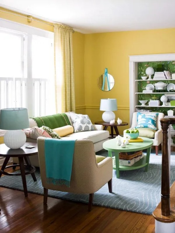 yellow color schemes BHG