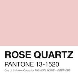 ROSE QUARTZ - 2016 PANTONE COLOR OF THE YEAR