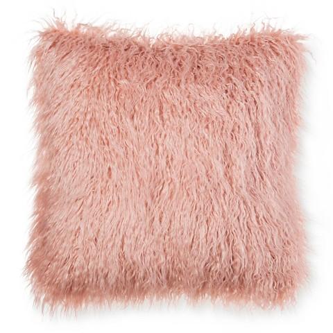 "Threshold™ Pink Faux Mongolia Fur Pillow 18"""