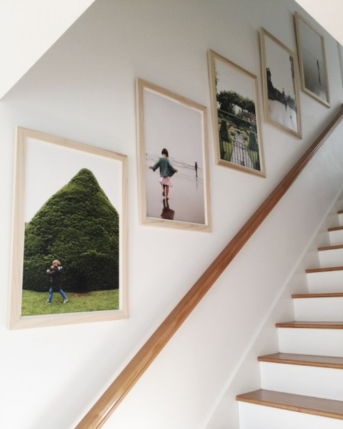 The itch to ditch and amazing hallways for Best brand of paint for kitchen cabinets with wall art for staircase wall