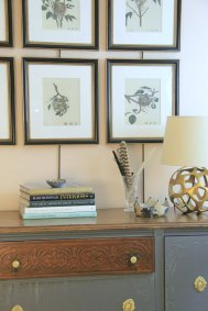 """AMERICA'S OTHER AUDUBON NEST LITHOGRAPHS FRAMED - I actually repainting this dresser """"Ashley Gray"""" but never posted photos. it was right before Christmas when company was coming and I was having my own version of a one hour makeover show trying to pull this place together!!"""