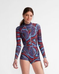 NAVY PAISLEY WETSUIT