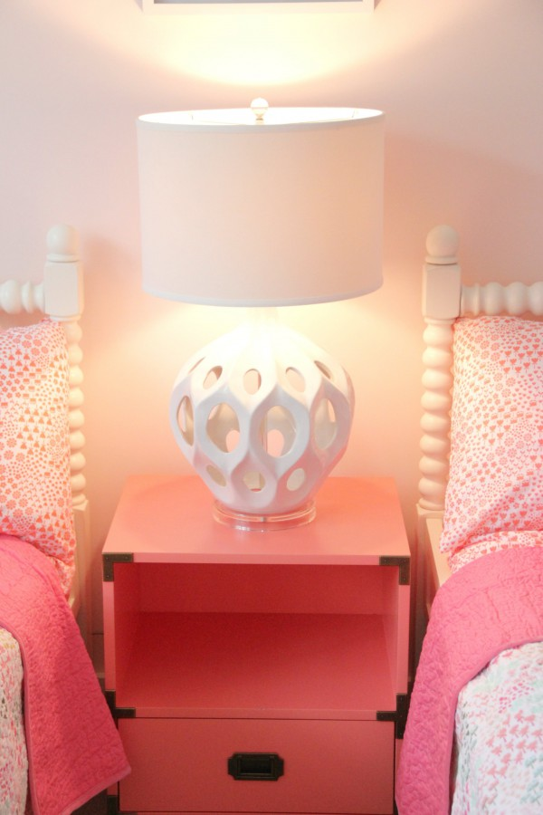 "land of nod coral side table and SAFAVIEH ""REGINA"" LAMP - I LOVE THIS LAMP! IT COMES IN SOME GREAT COLORS . CHECK THEM OUT AT TARGET.COM"