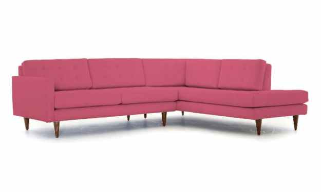 "JOYBIRD - ELIOT SECTIONAL SOFA WITH BUMBER IN ""LINGO PARFAIT"""