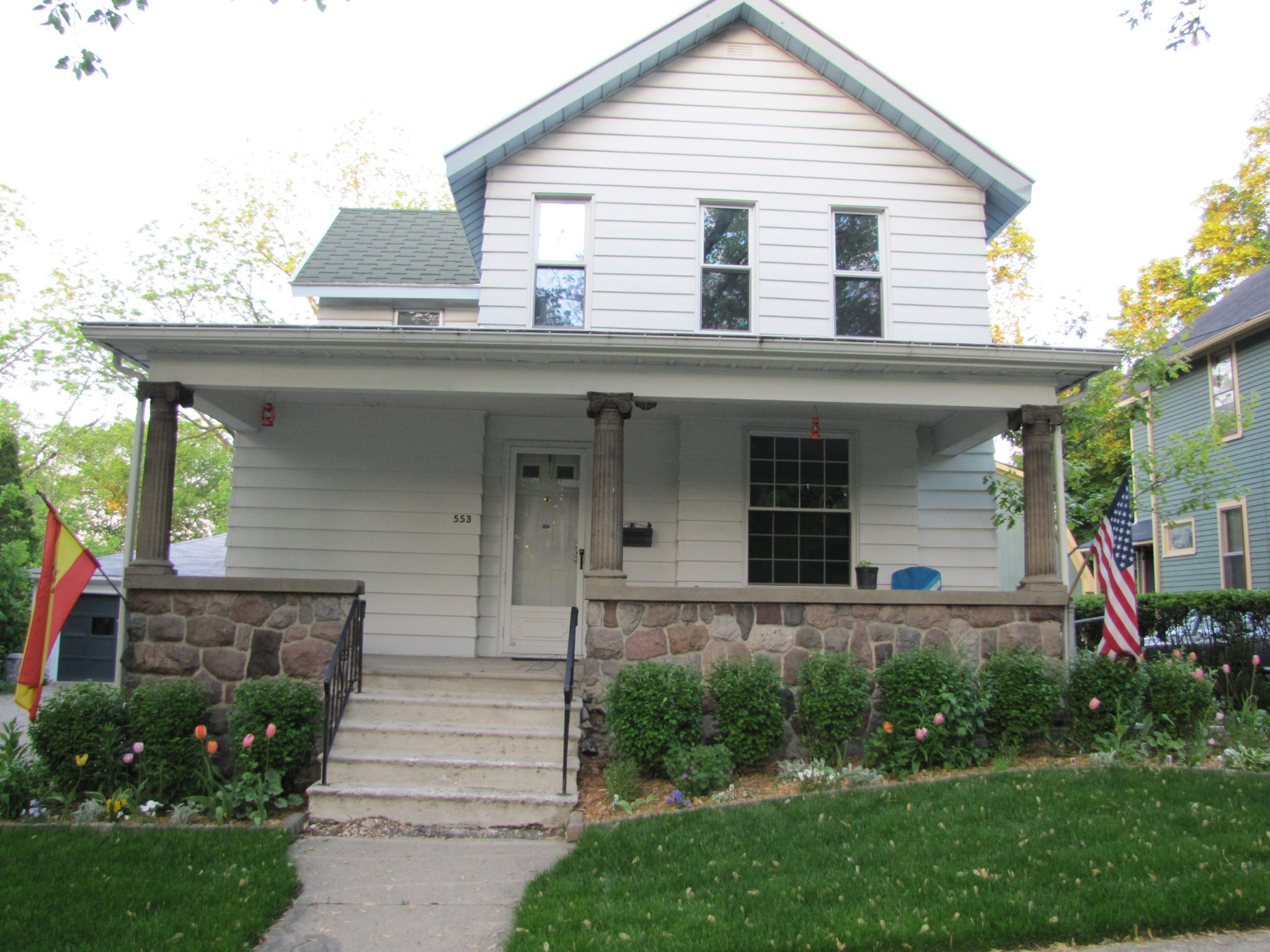 Concrete Steps and Stone Walls: Front Porch Restoration - My