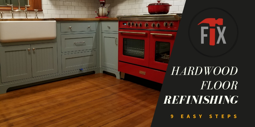 Hardwood Floor Refinishing in 9 Easy Steps via @myoldhousefix