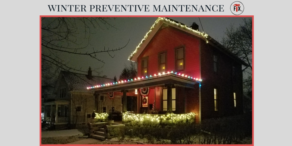 Winter Preventive Maintenance Tips & Checklist via @myoldhousefix