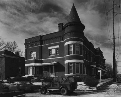 """Historic photo of 3005-3011 Pacific Street (with another entrance at 1102 South 30th Avenue) borrowed from the Omaha Landmarks site. From their website: """"Year Built: 1890. Architect: Mendelssohn, Fisher & Lawrie. Builder: Unknown. Style: Queen Anne. Designated Omaha Landmark: : 4/21/1981. Hicks Terrace is historically related to prominent Omaha real estate broker and developer George N. Hicks who is credited with the development of the Hanscom Place neighborhood."""""""
