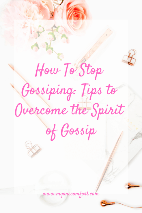 How To Stop Gossiping