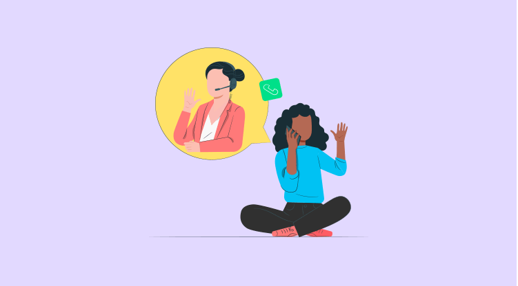 Cold calling tip #8 - Contact the right person [Illustration by MyOperator]