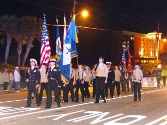 Orange Beach Mardi Gras 2013 Mystical Order of Mirams Parade Color Guard