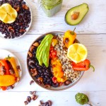 Healthy, gluten free and spiced lunch bowl with Brazilian flavors