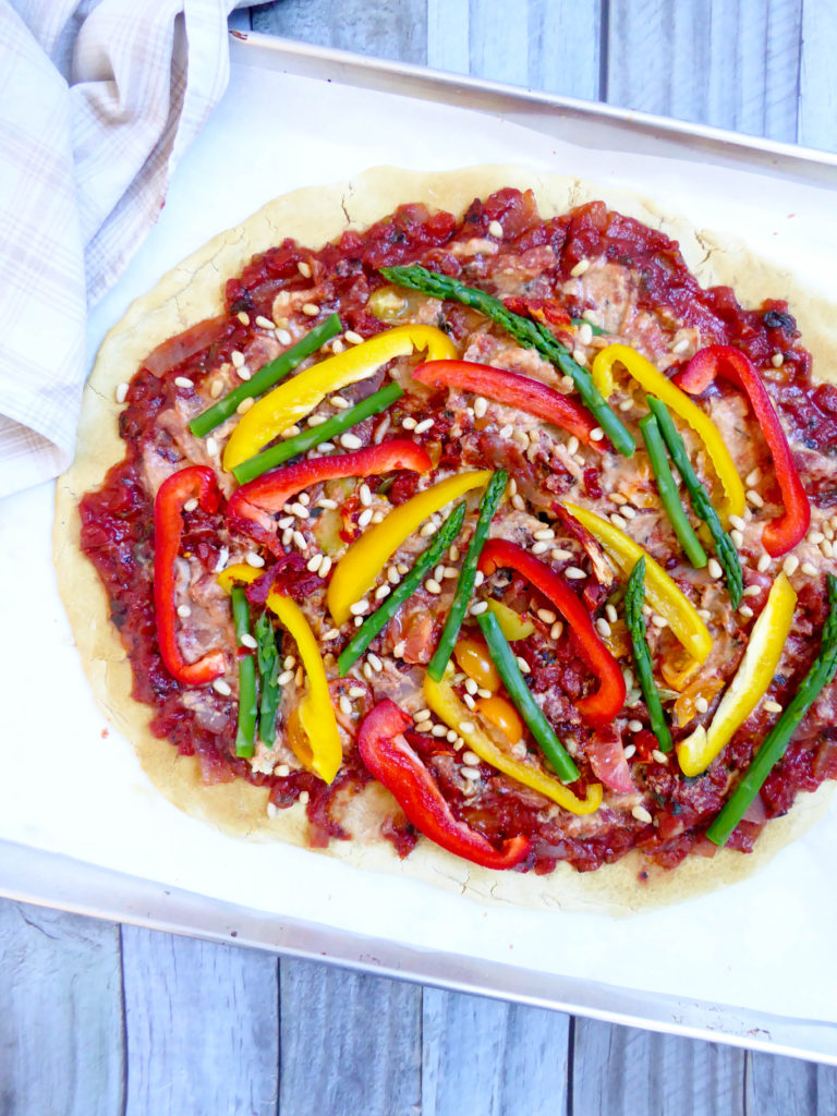 Gluten free pizza - vegan healthy pizza dough,