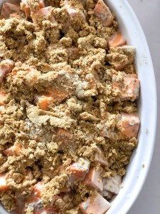 Tahini Squash Crumble - Vegan and gluten-free casserole, ideal for fall