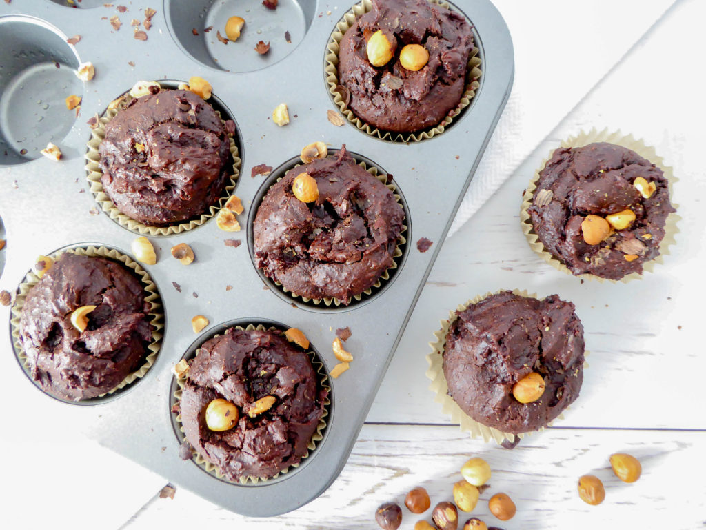 All chocolate muffins - extra chocolate vegan muffin for chocolate lover.