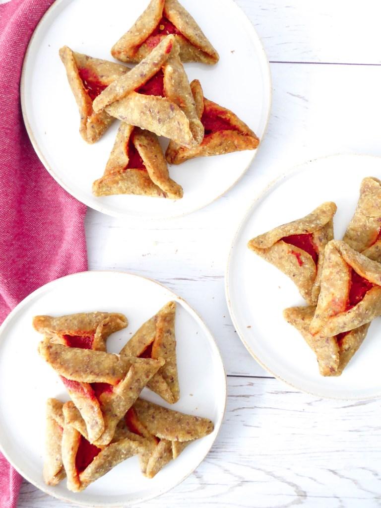 ISRAELI STYLE SAVORY HAMANTASCHEN - Favorite Purim holiday treat but in savory!