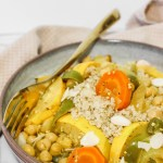 Simple Vegetable Tajine - Delicious flavorful vegetarian version of the famous oriental dish.