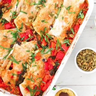 ENCHILADAS CASSEROLE - healthy every-meal recipe, filled with fiber, protein and greens.