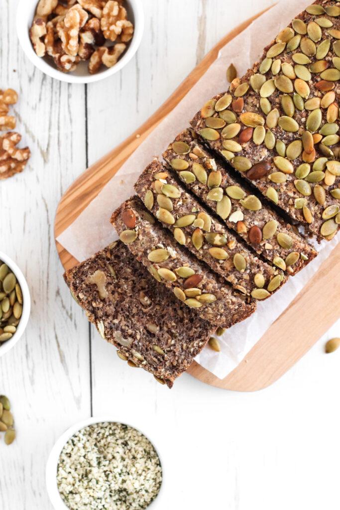 Superfood Bread - Healthful gluten-free and vegan bread, high in fiber