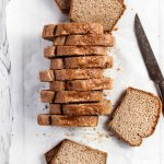 Tahini Flourless Bread - Gluten-free 5 ingredients one bowl quick recipe with a delicious tahini aftertaste