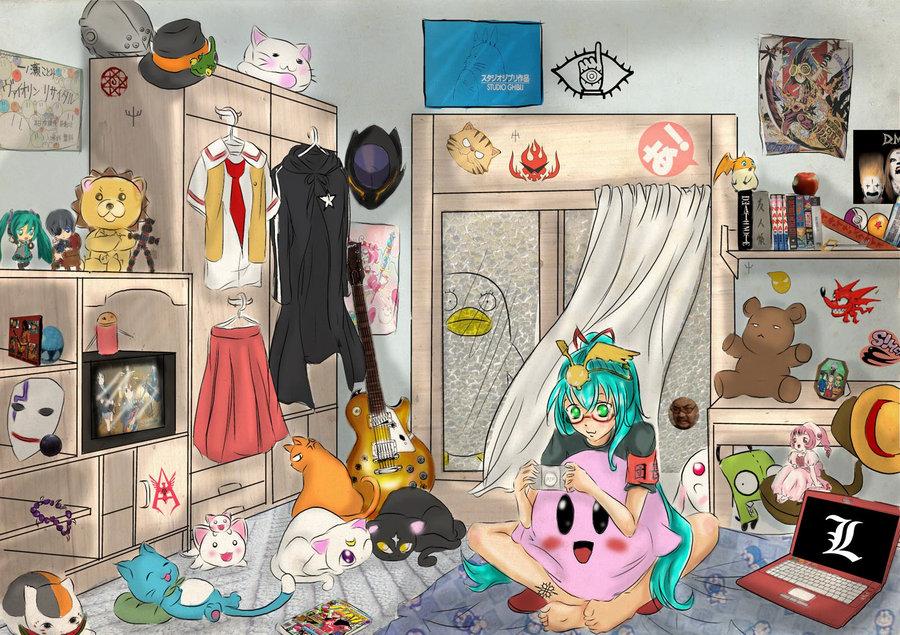 messy room   myotakublog4ever on Bedroom Reference  id=43600