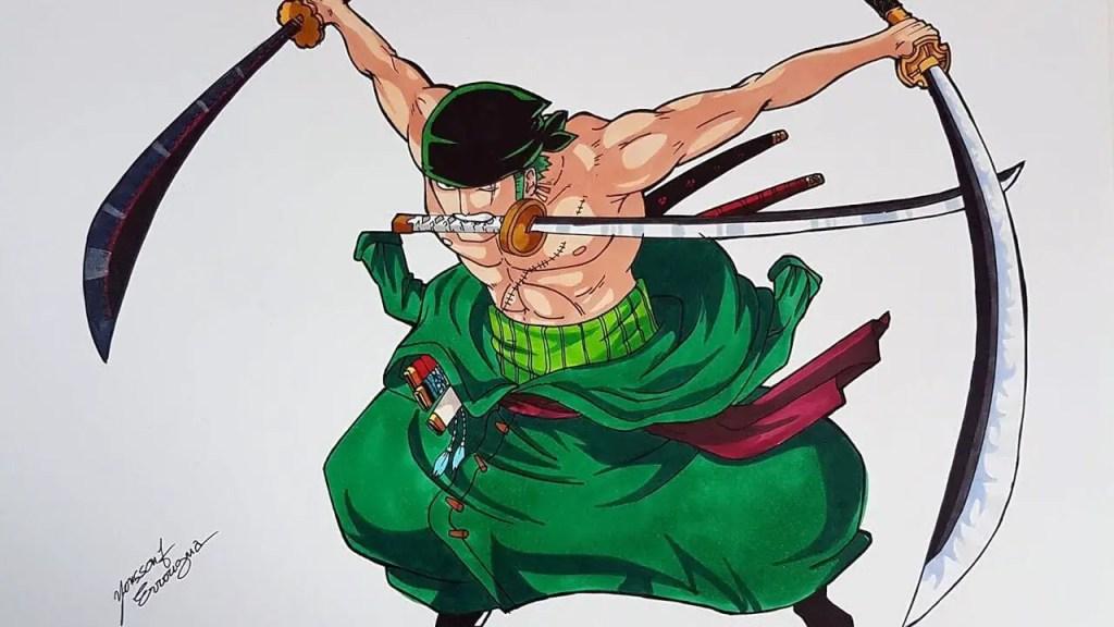 Zoro Roronoa anime swordsman