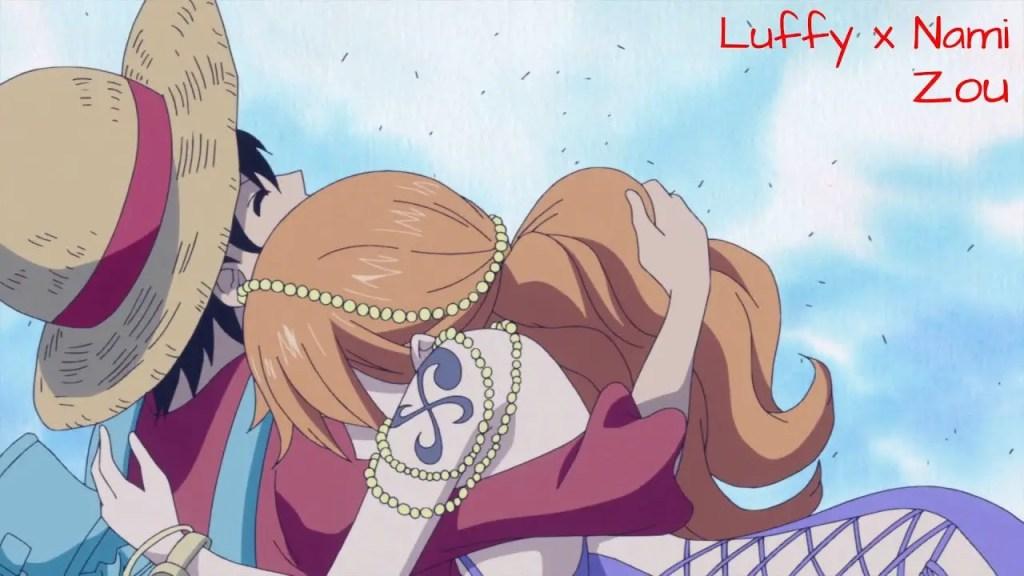 One Piece – Nami hug Luffy
