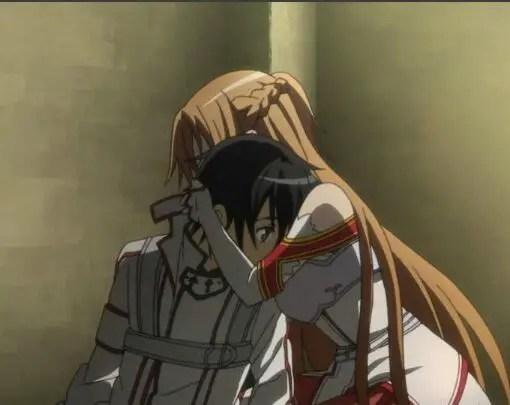 Sword Art Online – Kirito and Asuna Hug