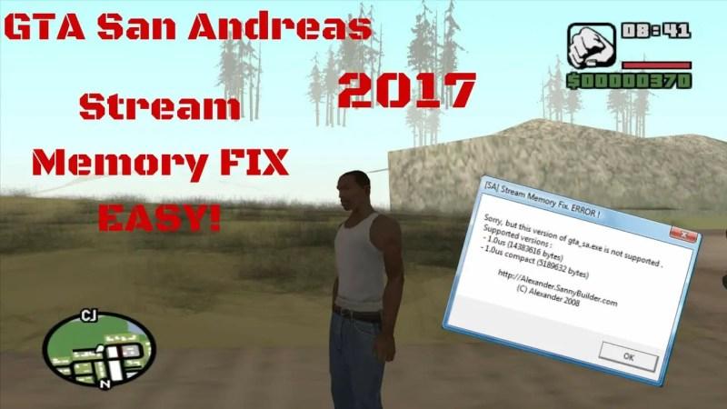 Memory Update for San Andreas