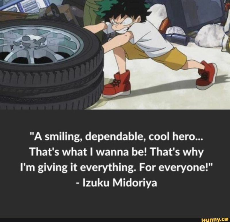 A smiling dependable, cool hero… That's what I wanna be! That's why I'm giving it everything. For everyone!