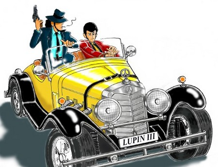 TIE: Lupin's Fiat or Mercedes SSK From Lupin the 3rd