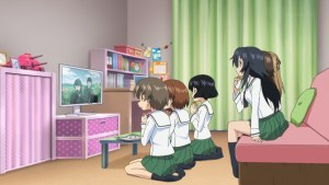 anime watching tv