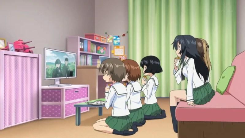 anime watching tv