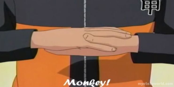 naruto Monkey hand sign