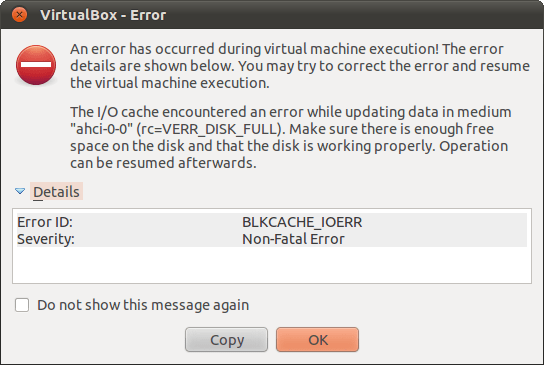 VirtualBox Error: