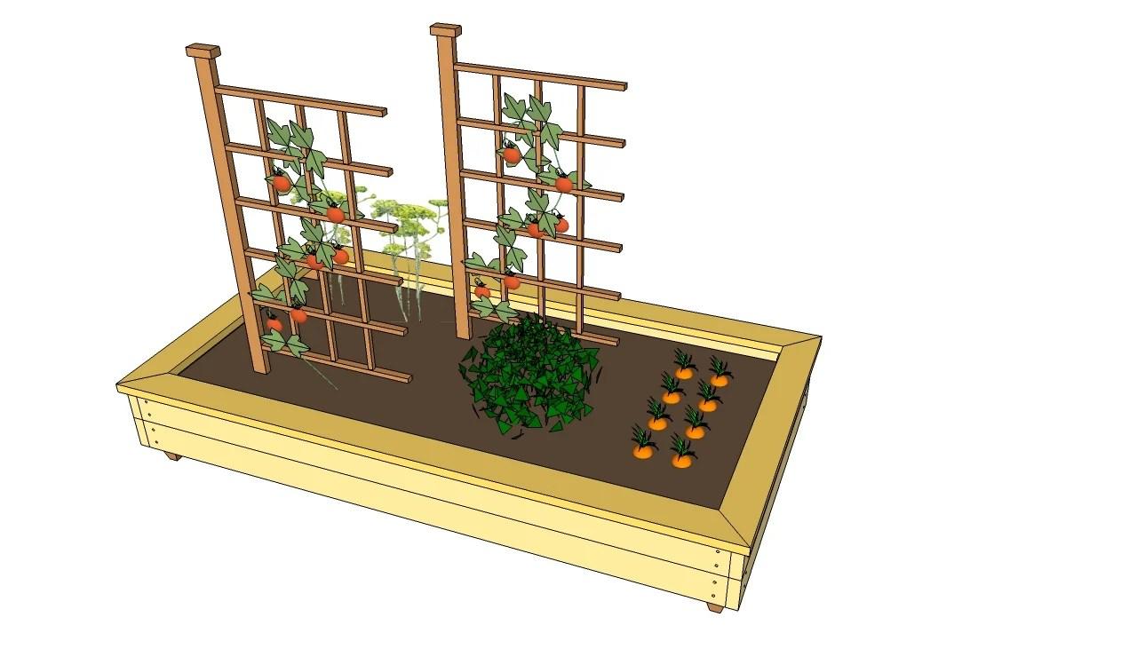 Raised Garden Planter Free Plans