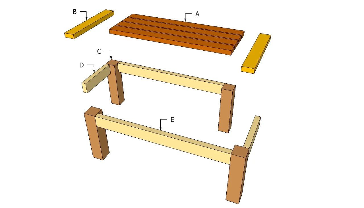 outdoor table plans wood