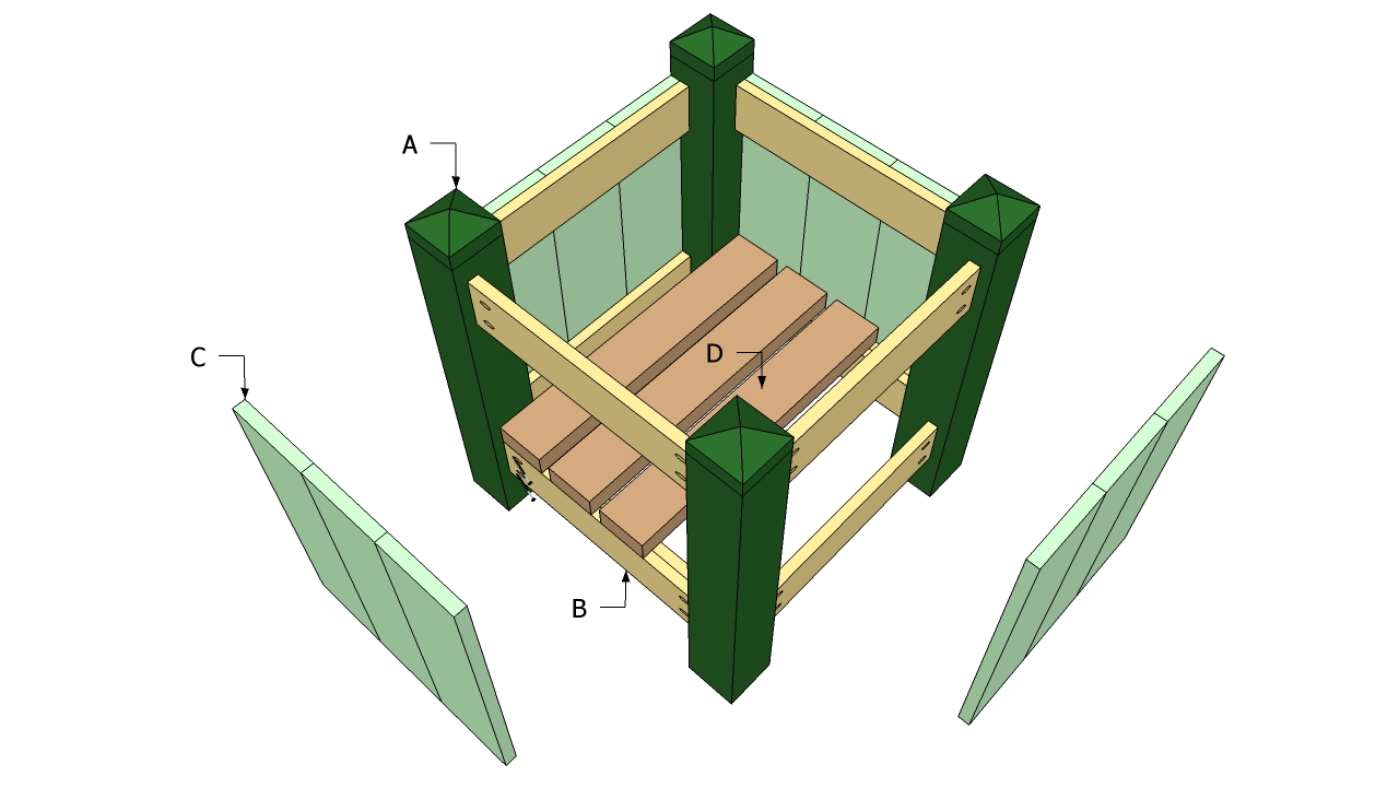 wood garden box plans