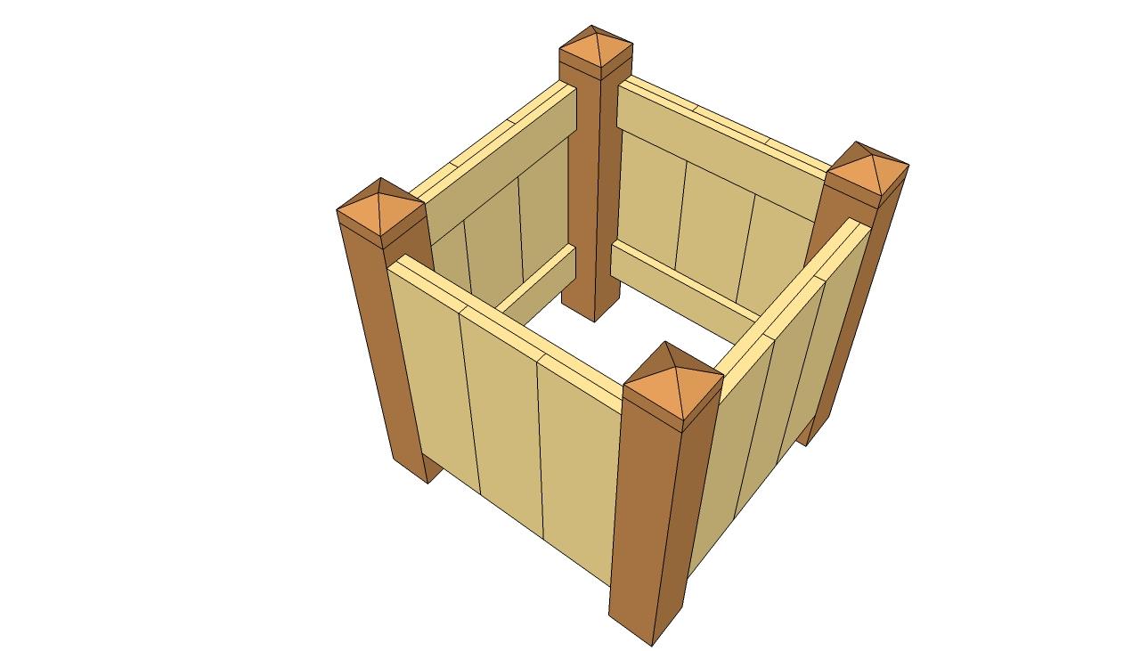 wooden planters plans