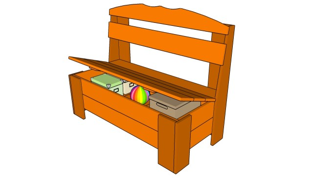 woodworking plans bench with storage