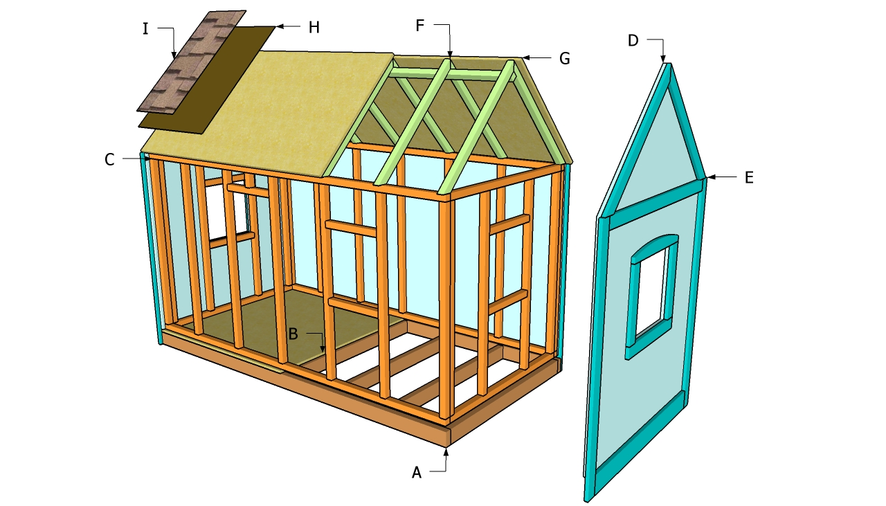 Pdf playhouse plans lowes diy free plans download children for Free house blueprints and plans