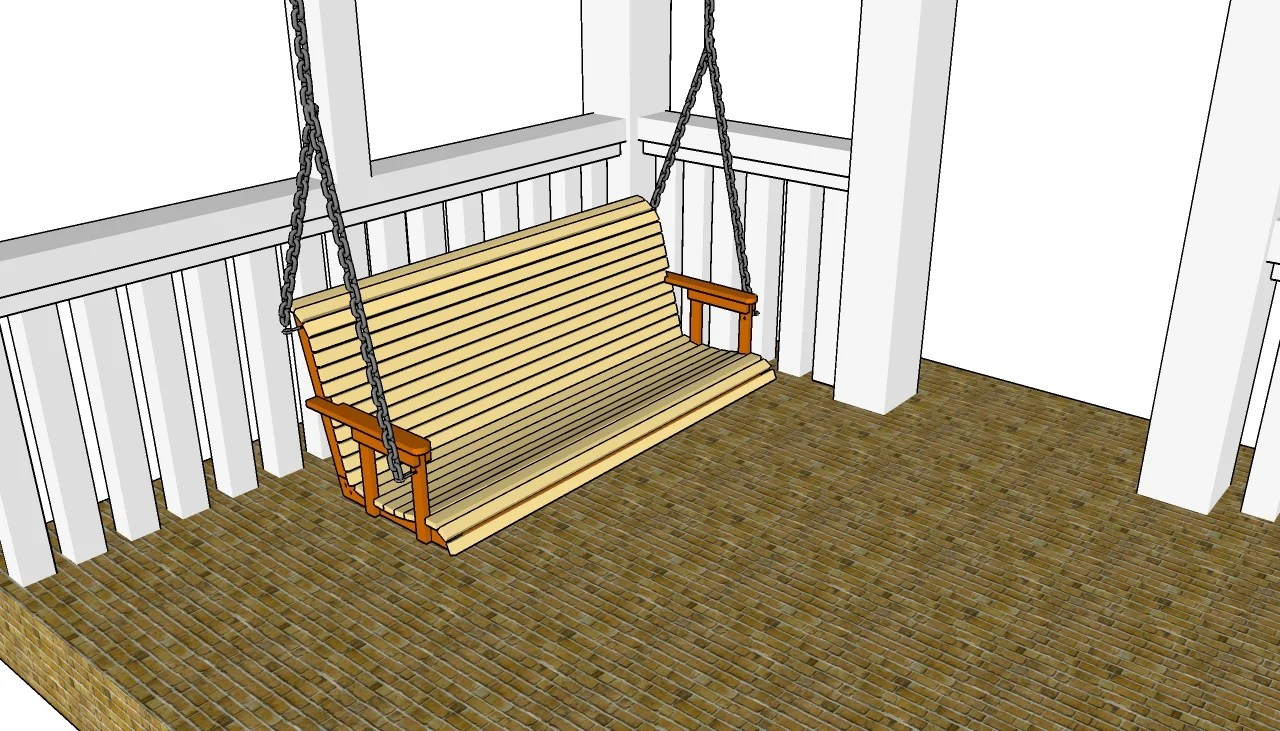 Pdf plans porch swing building plans free download for Build porch swing plans