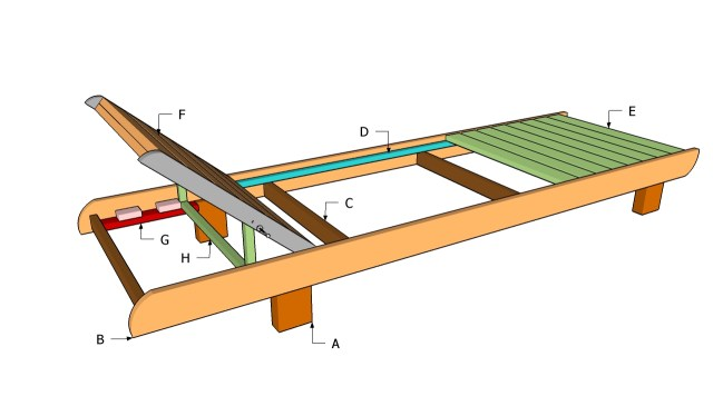 Wooden chaise lounge chair plans