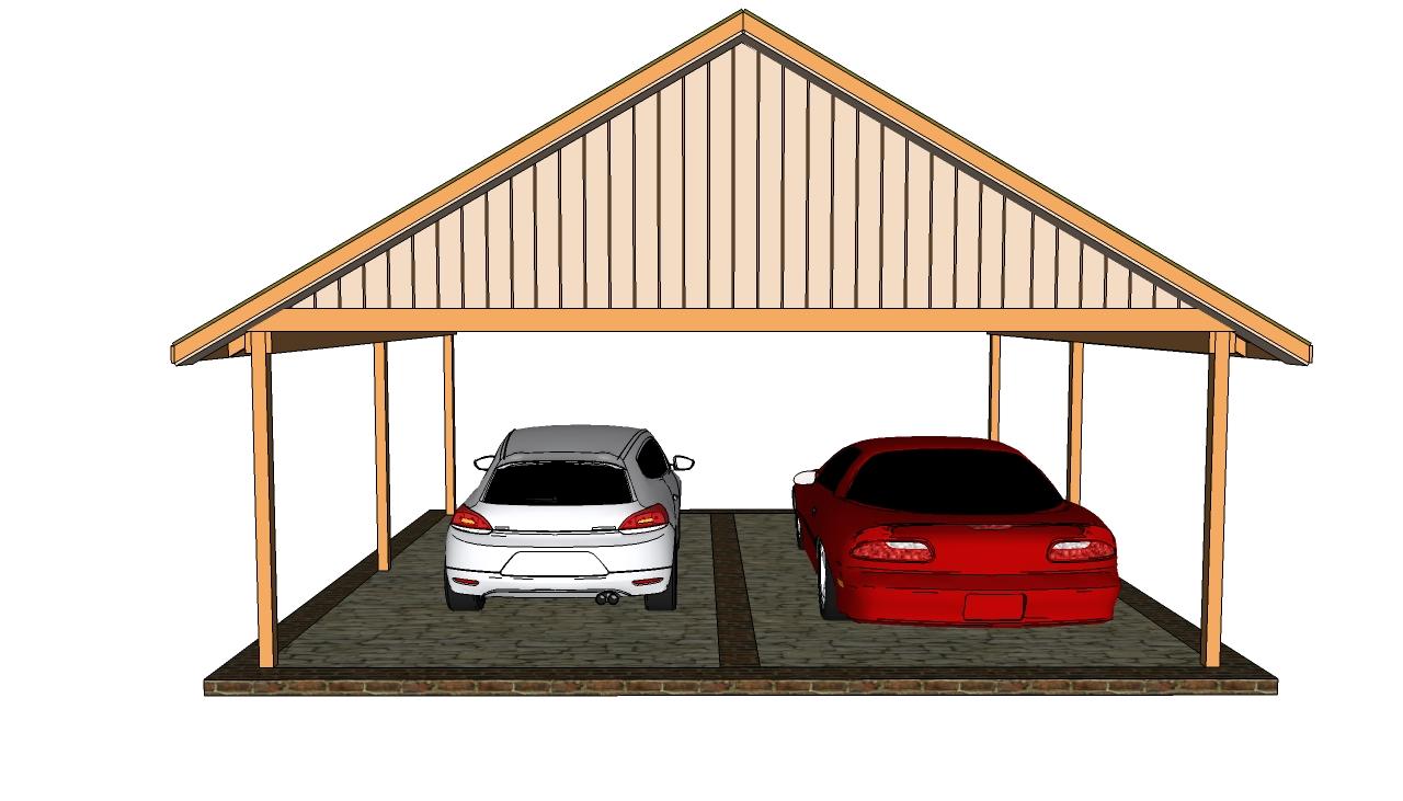 double car carport plans