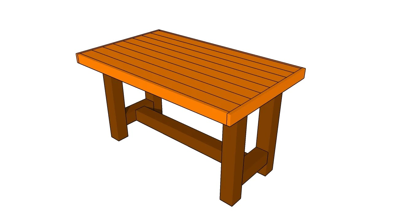 Pdf plans outdoor wood table plans download wood box plans for Box table design