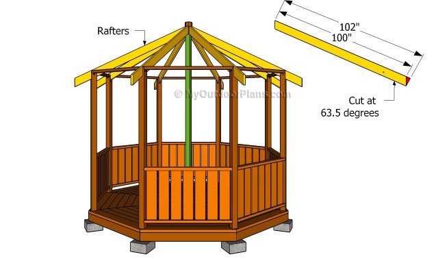 Gazebo Roof Framing   Free Outdoor Plans - DIY Shed, Wooden Playhouse ...