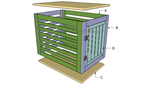 diy wooden dog crate plans