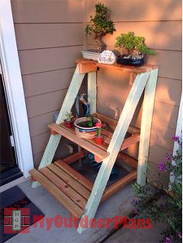 Outdoor Plant Stand Myoutdoorplans Free Woodworking