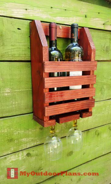 DIY Wine Shelf MyOutdoorPlans Free Woodworking Plans