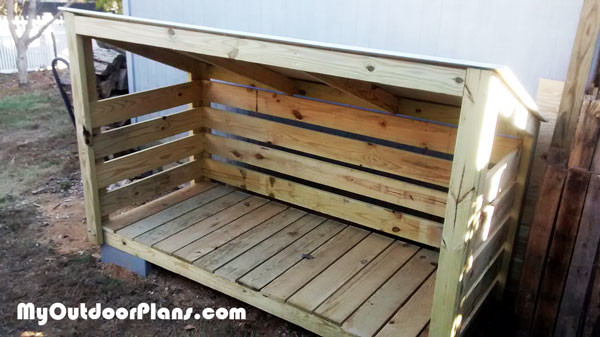 Diy Small Firewood Shed Myoutdoorplans Free